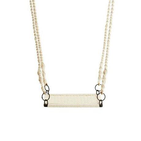 Madam Stoltz Swing off-white iron cotton 55x36x150cm