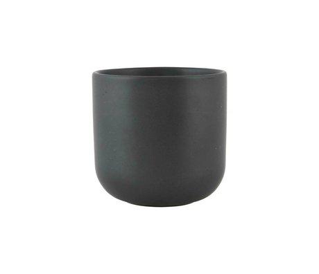 Nicolas Vahe Becher Nista schwarzer Keramik Ø9x9cm