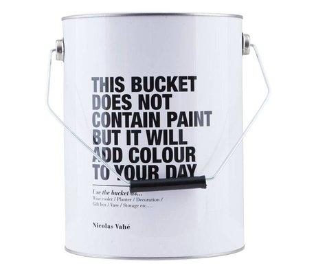 Nicolas Vahe Storage box with lid white steel 17,5x25,5cm