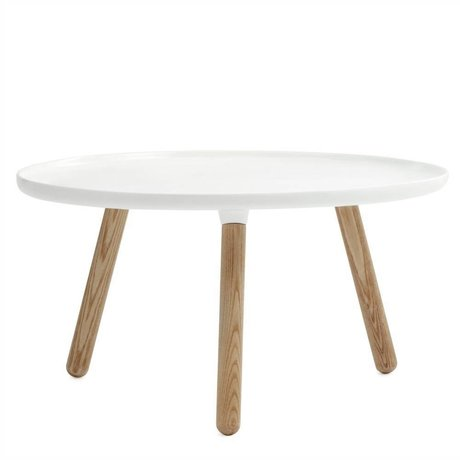 Normann Copenhagen Damage Table Tablo white plastic ace wood ø78cm