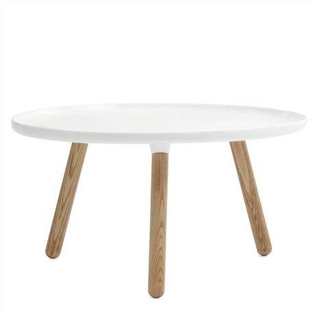 Normann Copenhagen Table de dommages Tablo cendres plastique blanc ø78cm