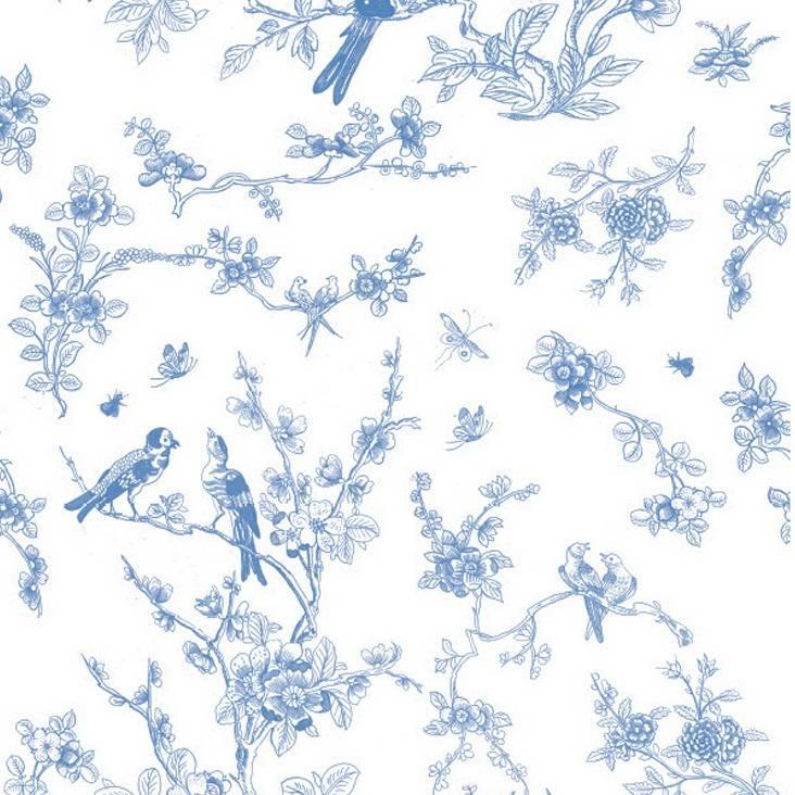 Kek Amsterdam Oiseaux Fond D Ecran Et Papier Fleur Polaire Bleu 97