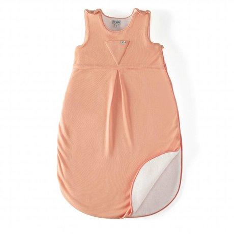 Roomblush Slaapzak Essentials roze katoen met teddy 75x42cm: 0-6/9 maand