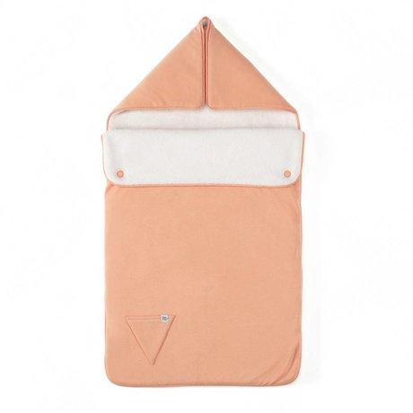 Roomblush Voetenzak Essentials roze katoen en teddy 80cm