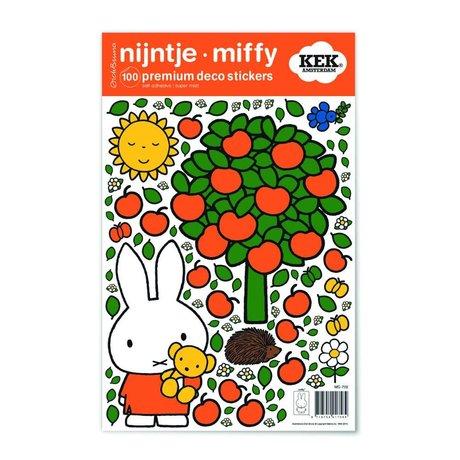 KEK Amsterdam Muursticker Nijntje appelboom multicolour vinylfolie S 21x33cm
