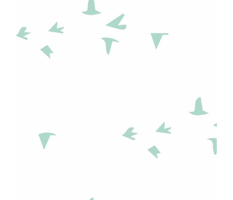 Roomblush Fond d'écran Fly With Me papier peint tissé vert menthe 1140x50cm
