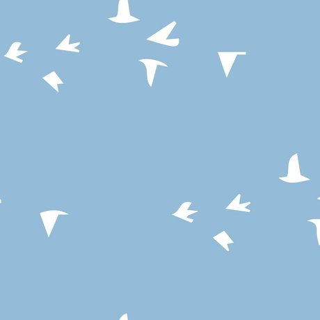 Roomblush Fond d'écran Fly With Me papier peint tissé bleu 1140x50cm