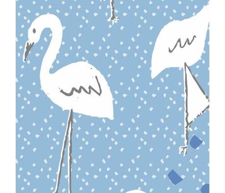 Roomblush Dans le paradis papier peint bleu tissé papier peint 1140x50cm