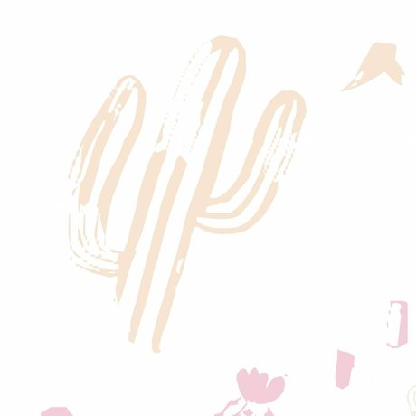 Roomblush Behang Wild and free roze papier 1140x50cm