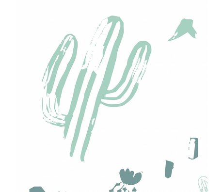 Roomblush Behang Wild and free mint groen papier 1140x50cm