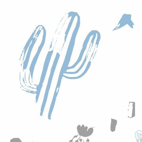 Roomblush Behang Wild and free blauw papier 1140x50cm
