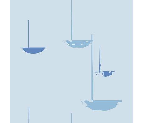 Roomblush Fond d'écran au papier peint tissé bleu flux 1140x50cm