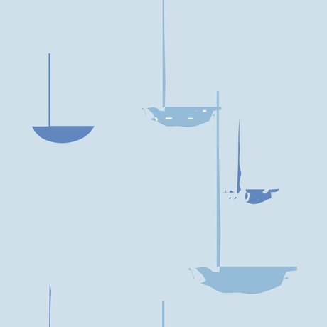 Roomblush Behang Go with the flow blauw papier 1140x50cm