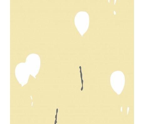 Roomblush Gardez le rêve papier peint jaune tissé papier peint 1140x50cm