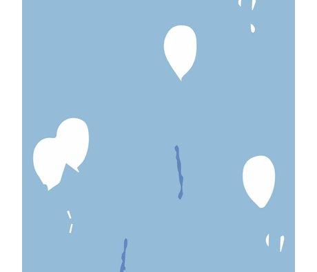 Roomblush Continuer à rêver papier peint bleu tissé papier peint 1140x50cm