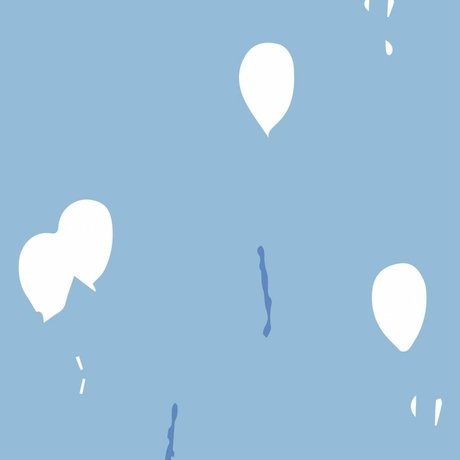 Roomblush Behang Keep dreaming blauw vliesbehang 1140x50cm