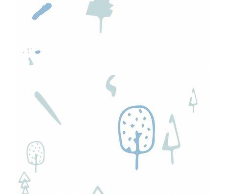 Roomblush Behang Wild forest blauw vliesbehang 1140x50cm