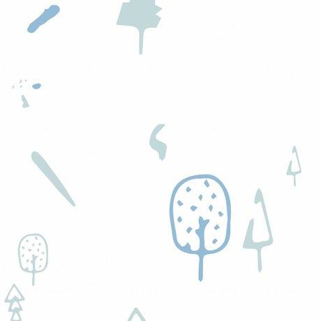 Roomblush papier peint forêt sauvage tissé bleu papier peint 1140x50cm