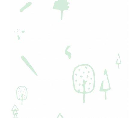 Roomblush Behang Wild forest mint groen papier 1140x50cm