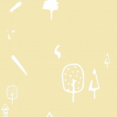 Roomblush Behang Wild forest geel vliesbehang 1140x50cm