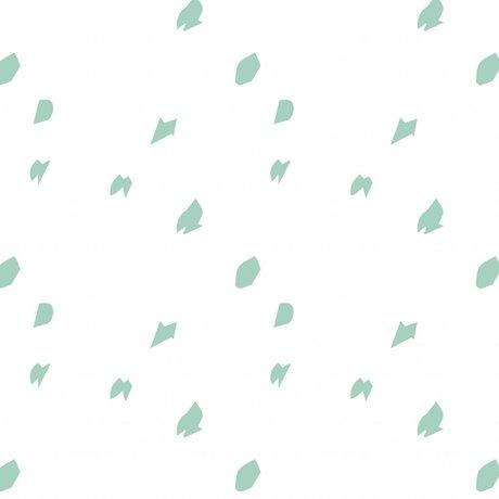 Roomblush Going papier peint tissé vert menthe papier peint Dotty 1140x50cm