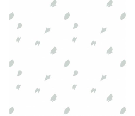 Roomblush Going Dotty papier gris tissé papier 1140x50cm