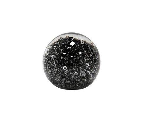 HK-living Glaskugel Briefbeschwerer schwarz 6,4x6,4x6,4cm