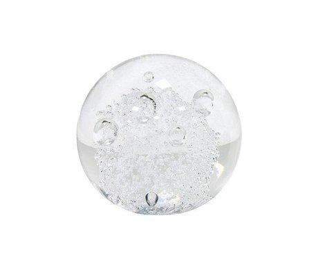 HK-living Glaskugel Briefbeschwerer 8,5x8,5x8,5cm
