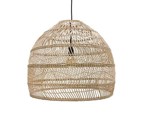 HK-living Hanging lamp handwoven beige reed 60x60x50cm