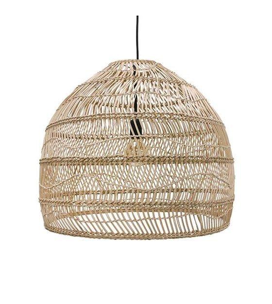 hk living hanglamp handgevlochten beige riet 60x60x50cm. Black Bedroom Furniture Sets. Home Design Ideas