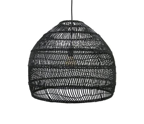HK-living Hanglamp handcrafted black reed 60x60x50cm