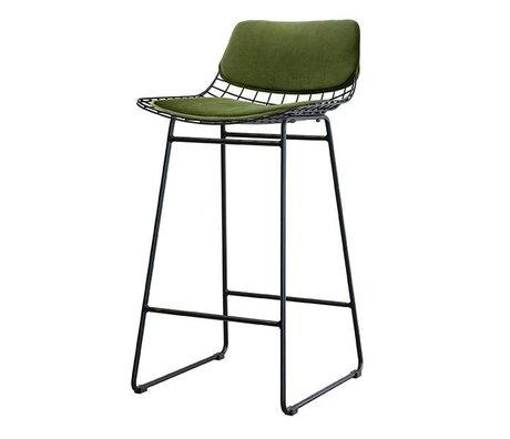 HK-living Comfort kit velvet green for metal wire bar pressure