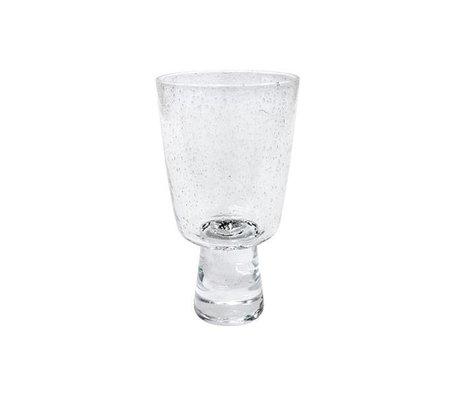 HK-living Wijnglas rode wijn 70's transparant glas 8x8x15cm
