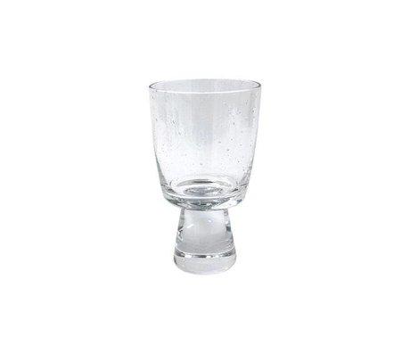 HK-living Wineglass white wine 70's transparent glass 7,5x7,5x13cm