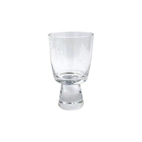 HK-living Verre vin blanc 7,5x7,5x13cm en verre transparent de 70