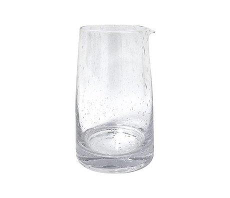 HK-living Karaffe 70er transparentem Glas 11,5x11,5x18,5cm