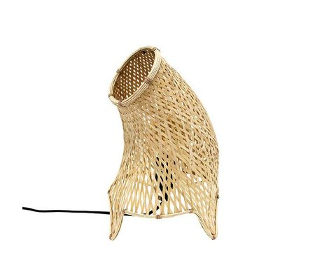 HK-living Lampe de table anche organique brun M 22x22x35cm
