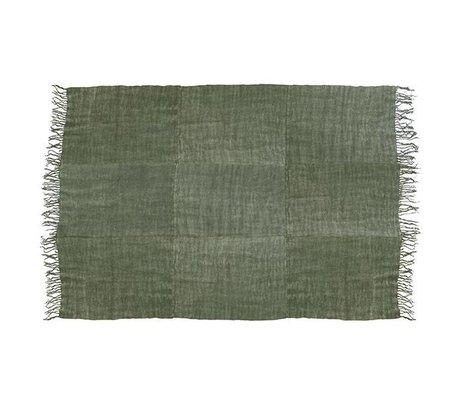 HK-living Tapijt leger groen linnen 230x320cm