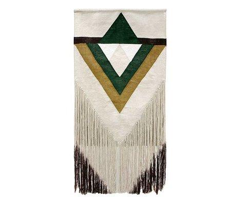 HK-living Tapestry Aztec green textile 90x180cm