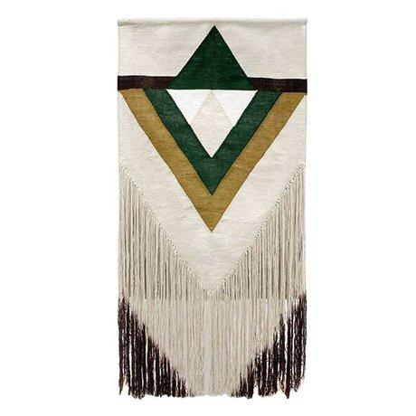 HK-living Wandkleed Aztec groen textiel 90x180cm