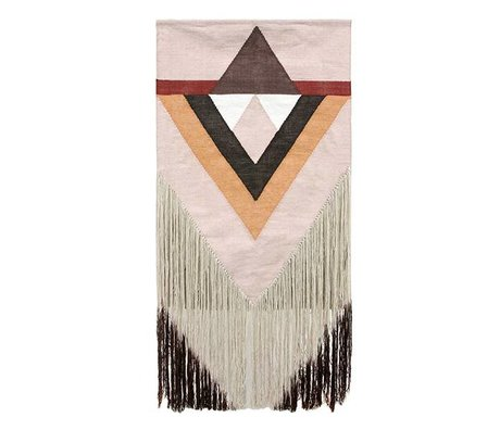 HK-living Tapestry Aztec nude pink textile 90x180cm
