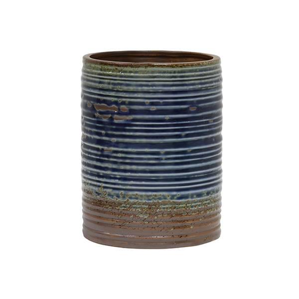 Hk Living Pot De Fleurs Bleu Brun 15 5x15 5x20cm Ceramique Wonen