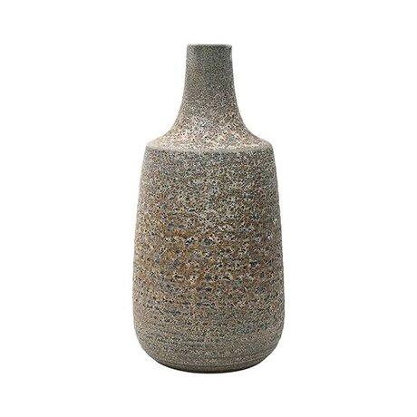 HK-living Vase L brown ceramic 18,2x18,2x36cm