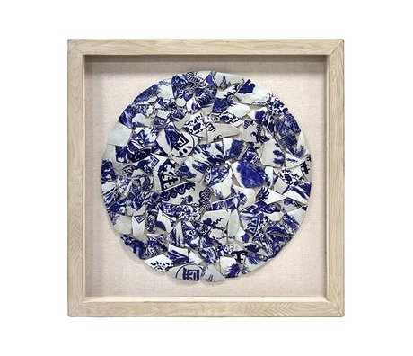 HK-living Kunst-Rahmen Porzellan Kreis 90x5x90cm