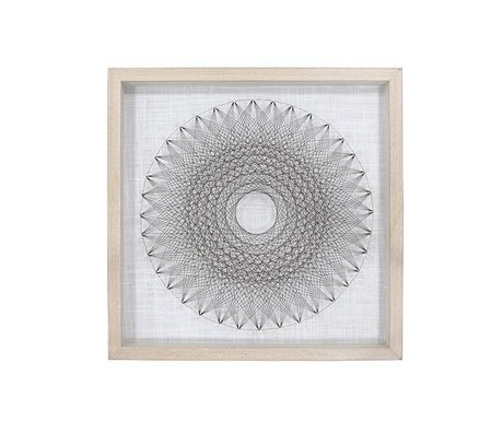 HK-living Art frame wire circle 50x6x50cm
