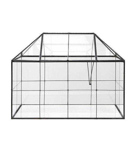 Hk Living Mini Gewachshaus Transparentes Glas Metall 40x24x32cm