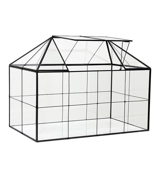 hk living mini gew chshaus transparentes glas metall. Black Bedroom Furniture Sets. Home Design Ideas