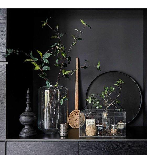 hk living mini gew chshaus transparentes glas metall 40x24x32cm wonen met lef. Black Bedroom Furniture Sets. Home Design Ideas