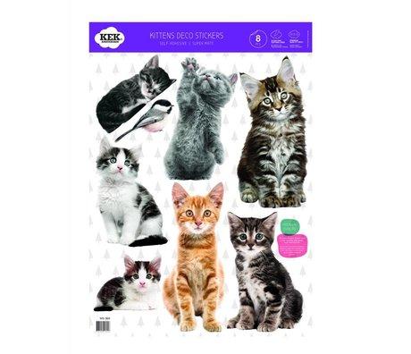 KEK Amsterdam Wallsticker Set of kittens multicolored vinyl film 42x59cm