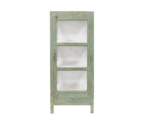 HK-living Doctor's cabinet carries green wood 58x39x140cm